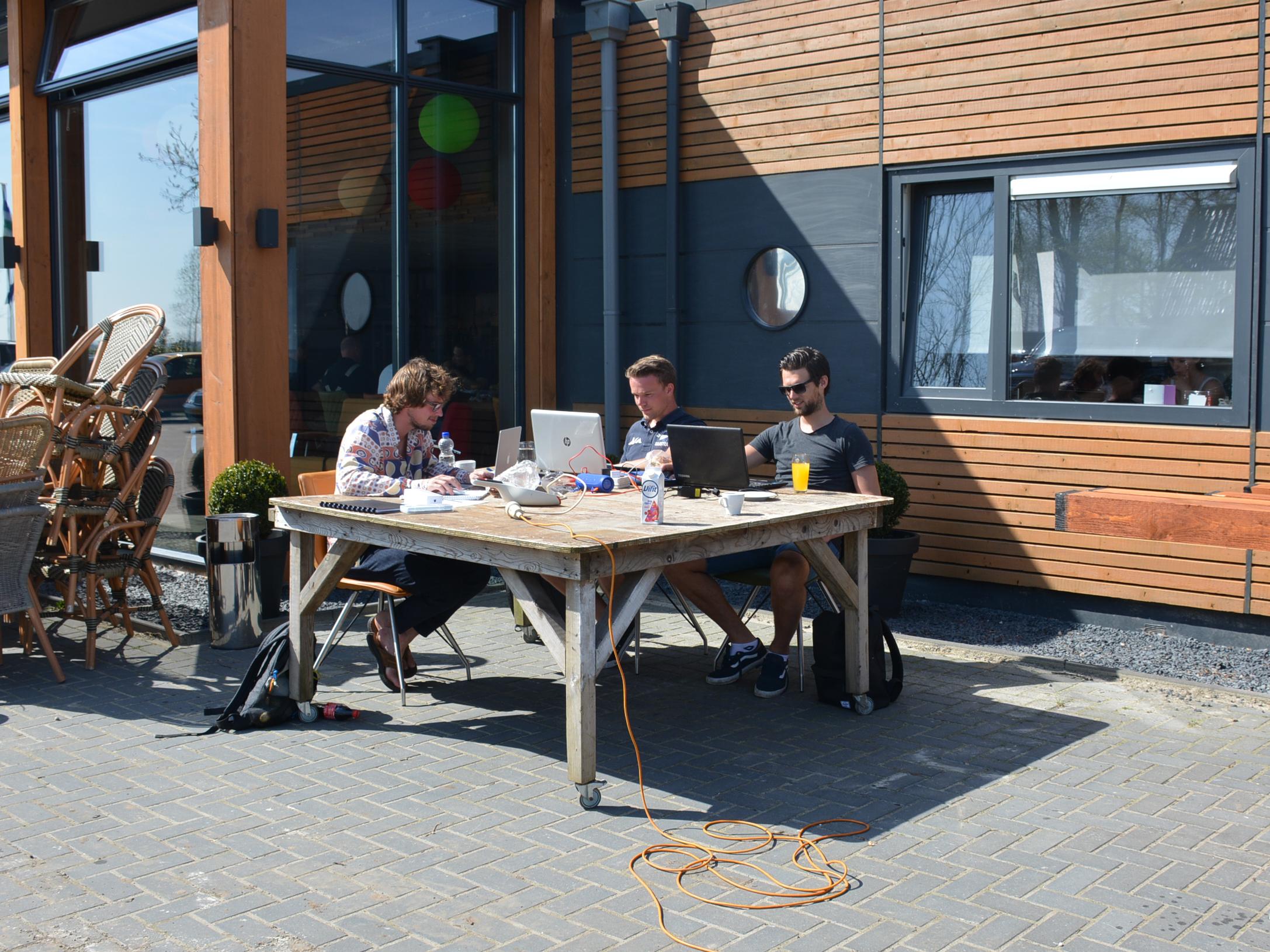 Hanze Hogeschool studenten leren bij De 4 Elementen in Stroobos