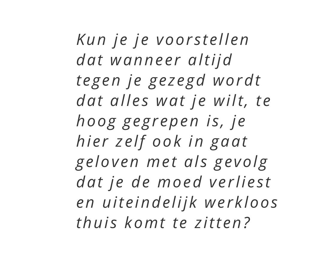 Quote Jorien de Jong - Reactie Vso Artikel van NVA