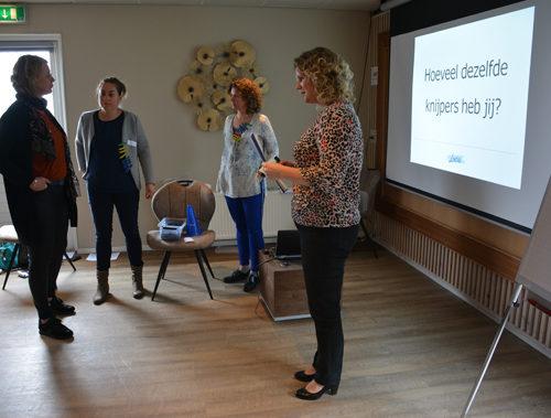 Training van Lucia de Boer tijdens de WeetIkVeel-dag bij De 4 Elementen