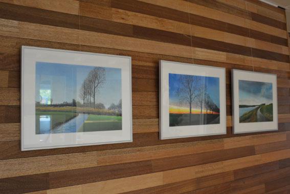 Kunstschilder Frans Hage exposeert in het D4E Centrum van De 4 Elementen