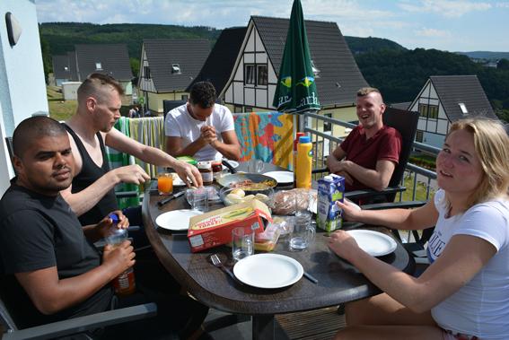 Deelnemers (cliënten) van De 4 Elementen op vakantie